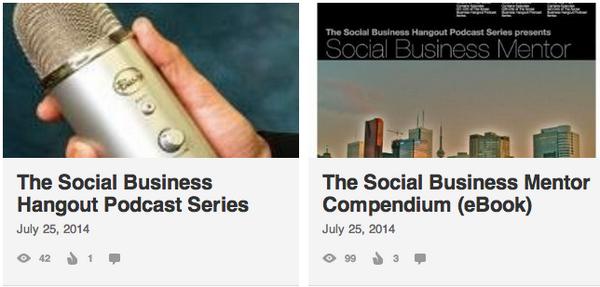 Social Business Hangout http://t.co/TgH3tqidnK   Social Business Mentor http://t.co/sJdXtDCu8P  Produced by @TDGV http://t.co/qoyEuE9lHQ