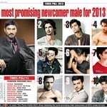 "Congratulations @dhanushkraja 4 toppin ""The Most Promising 2013 List"" in da #TOI Poll - No1 in any Bwood list is gr8! http://t.co/TYjOfl44q1"