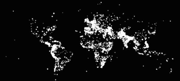 World map created by plotting out each terrorist attack since 1970 http://t.co/iHKFLHxvPn http://t.co/U0SmCcla17