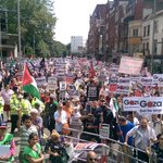 v @DrBasselAbuward  Happening now in London thousands r gathering demanding the end of siege & war on #Gaza https://t.co/vo1adPlQAz