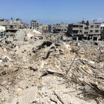 Where is the precision in this strike? Awful MT: @BBCiPannell This is what's left of one neighbourhood in #Gaza https://t.co/uOIysYuPnq