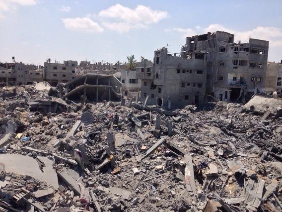 Ceasefire, truce, humanitarian break.. Question is, what do people go back to? RT @nicolealjazeera: Shajayia #Gaza http://t.co/fTjIbUJpxh