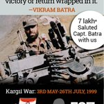 7 lakh saluted #VikramBatra with us #KargilVijayDiwas Our tweet #IndianArmy We are now live http://t.co/V2NUoJNt3R http://t.co/xSeAT9a1LF