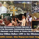 #WhyBapujiTargeted to defame Hinduism and weaken its roots, to make Hindustan a Christian or a Muslim country. http://t.co/DZNJ3OFyEN