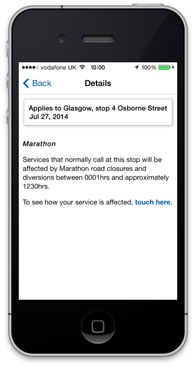 App travel warnings will advise stop closures, planned diversions relating to tomorrow's G2014 road marathon: http://t.co/M3OQBiJz7r