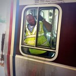 The awesome Mr. Washington at the controls. Ready to get the first #SilverLine train on the move! #wmata http://t.co/7OGzk9acbQ