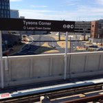 The #metro comes to #TysonsCorner #silverline #wmata #openingday http://t.co/K4HoB5fO40