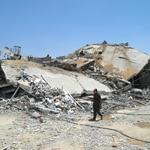 Unfathomable destruction in Shaja'ia, east Gaza City. 12 hr truce allows residents back for 1st time. #CBC http://t.co/t7Qzj6K8VP