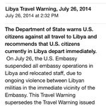 RT @HayesBrown: RT @Libyan4life: Email from the U.S Embassy of #Libya to citizens to immediately evacuate!! http://t.co/8j7MO7uywG