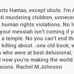 Nobody supports Hamas, except idiots. Im Anti terrorism, but Im also anti murdering children, unne... http://t.co/gAol6vVpJQ