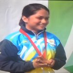 """@ten_sports: #CWG2014 Once again, Apurvi Chandela with her Gold Medal in 10 metre air rifle. #shooting http://t.co/Wwz6YZof9e"""
