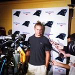 Former @WoffordTerriers WR @bbersin10 is the first media interview of #PanthersCamp. Hes ready to work. http://t.co/wcGzc8rIuG
