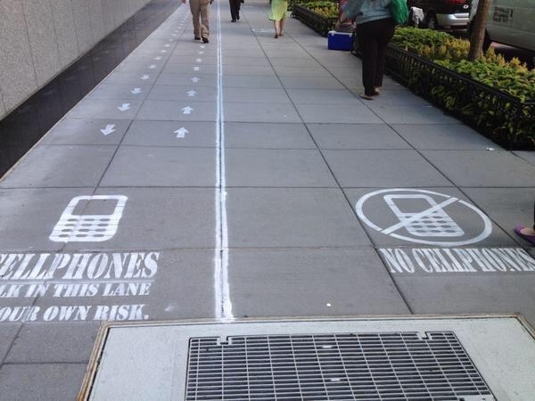 Cell phone and no cell phone lanes. http://t.co/zfcEhrqR5X http://t.co/TBZHEzXrq6
