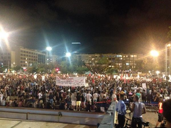 Existentialist Crisis. RT @alexhart7: Anti war protest in Tel Aviv getting huge. Smaller pro war rally in distance. http://t.co/oEUUosqlMy