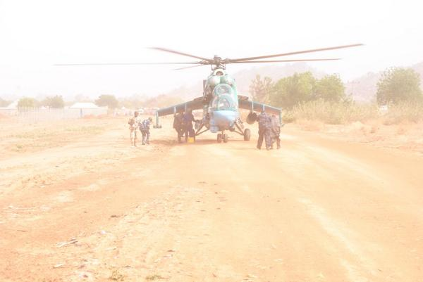 Our troops are on ground intensifying both land and air raids against the BH in Borno. Let's #UniteAgainstTerror