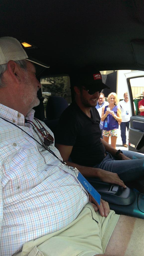 Luke Bryan and his dad. Luke headed home to Leesburg tomorrow to film a commercial for Cabelas on the Flint River. http://t.co/u9i219RoZn