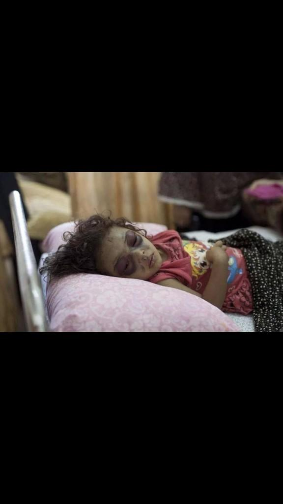 Nira Carter (@NiraHCarter): Imagine this was your sister or daughter #FreeGaza http://t.co/x6LU7wj74k