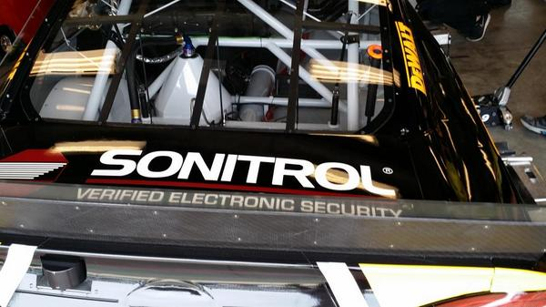 #Sonitrol logo is on this year's STANLEY #NASCAR! Watch & see! Race starts in just a few short hours! #Brickyard400 http://t.co/0ko3wc36KQ