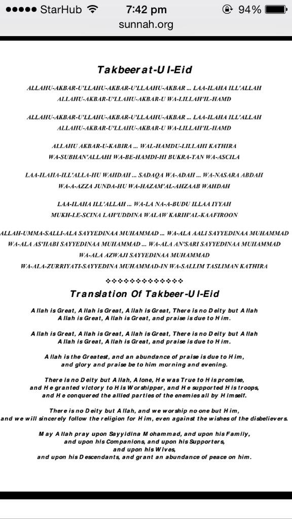 darquestatic : Translation of Takbir Raya for those who don't know ...