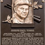 #FirstLook: Joe Torres Hall of Fame plaque. #HOFWKND http://t.co/OA79qwER9A