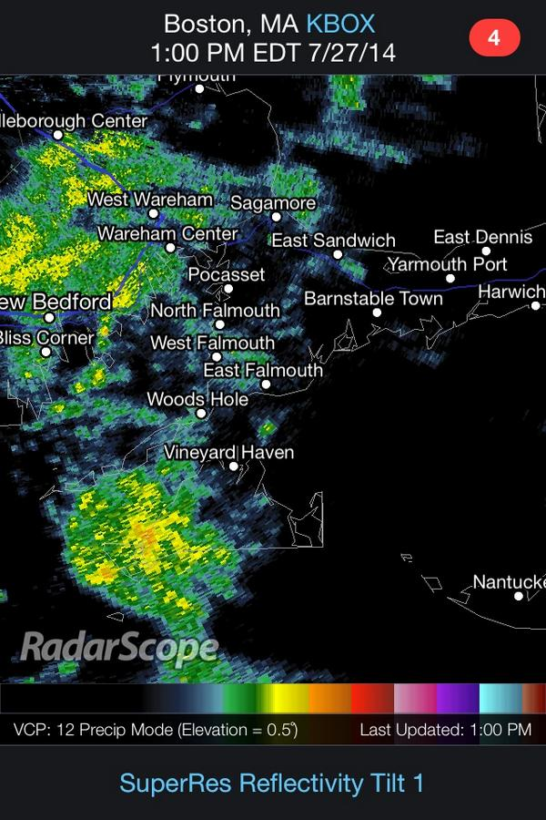 Showers increasing in coverage to our SW. Wet early-mid afternoon ahead around most of #capecod http://t.co/MCAYOZXEe3