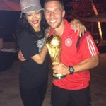 Riri - Poldi - the Cup - shining bright like a Diamond !! #fans #ilovebrasil #poldi #aha #lp10 #rihanna #memories http://t.co/Z1YYA8rTsv