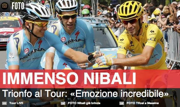 #Ciclismo Vincenzo #Nibali trionfa al #TourdeFrance 16 anni dopo  #Pantani http://t.co/IuIHuBW0jd http://t.co/WVf7UPGjUP