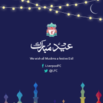 LFC would like to wish all Muslims around the globe a festive Eid ul Fitr @LFC_Arabic #YNWA http://t.co/dmUxC7HMzc