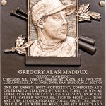 """@BaseballHall: #FirstLook: Greg Madduxs Hall of Fame plaque http://t.co/8YEDFr301x"" #BravesHat"