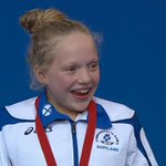 What a moment. Erraid Davies, at the age of 13, is presented with her bronze medal. #Glasgow2014 http://t.co/JKMinD15e1