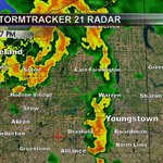 Heavy rain is moving into western Mahoning Co. Gusty storms to the NW as well. Monitoring Valley area for severe wx. http://t.co/lFU6jdTmYR