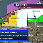 NEW: Tornado watch trimmed back. Tornado watch still in effect for Trumbull County, until 11 PM. http://t.co/dqO8hiMqIW