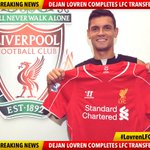 RT @LFC: Breaking News: Dejan Lovren has completed his medical & is now an #LFC player! Welcome to Anfield #LovrenLFC http://t.co/gMNFJWuVpJ
