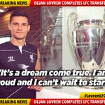 "RT @LFC: Lovren: ""I know it is something special to play at Anfield."" #LovrenLFC Full story: http://t.co/ZbGmNscmO1 http://t.co/4dA3DljCfO"