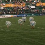 "So this is ""bubble ball"" as being demonstrated at halftime of the @RochesterRhinos game! #roc http://t.co/BOKFoF9Q92"