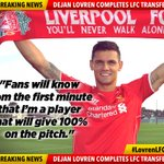 "Lovren: ""After the game last season, I hoped I'd play for #LFC one day."" #LovrenLFC http://t.co/RltGoQO24m http://t.co/qU4NNR20Rc"