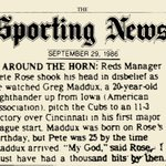 1986 Pete Rose quote on Greg Maddux. Improbably, 25+ yrs later, one is in the Hall and one is not: http://t.co/rnV9GjQEUc