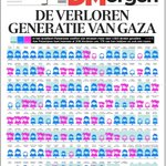 Frontpage @DeMorgen this morning - Lost generation of #Gaza - https://t.co/S9jexZR9Ui v/@lisimbo