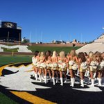 A perfect evening at Faurot Field for the 2014-15 Mizzou Golden Girls poster shoot! #MIZ http://t.co/fWT0CB3GSt