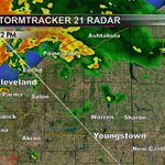RT @MikeJoyceWFMJ: Radar Update: Strong storms moving off of Lake Erie, may impact Trumbull Co. in a hour or so. http://t.co/Ru9ggtWZ6y