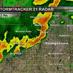 Heavy showers and high wind moving across southern Trumbull and Mahoning counties. http://t.co/lWglsWo6Xp