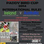 RT @AustralasiaGAA: Paddy Bird Cup will take place in Darwin next Sunday @DarwinShamrocks @BailieboroS @CavanCoBoardGaa #GAA http://t.co/h1opprJ1RJ