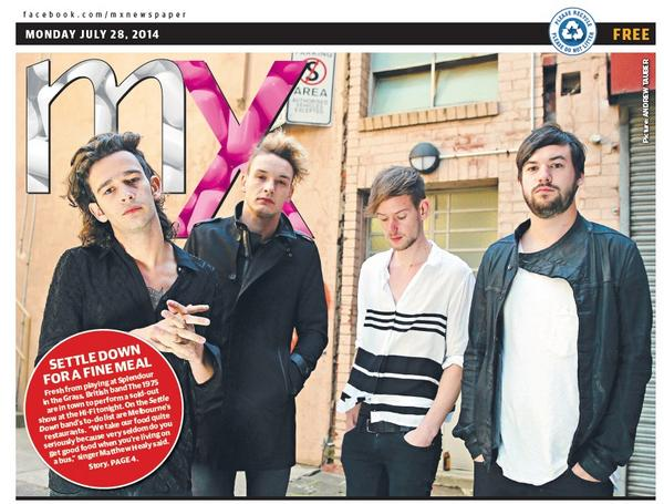 Fresh  from @SITG, look who's in Melb tonight at @The_HiFi & on p1 of @mxmelbourne? It's @the1975! @taubheraldsun http://t.co/E9Ttz9iV89