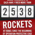 ROCKET COUNT: Hamas has fired 2,538 rockets at Israeli civilians since Operation Protective Edge began. http://t.co/YdGuBl6Wcx