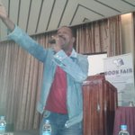 "ZIBF2014INDABA Albert Nyati welcoming everyone to Zimbabwe with his poem ""Welcome To Zimbabwe"" http://t.co/zFTUXy9dKH"
