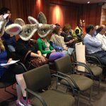 Contingent of Bilbies against fracking sit next to mining reps @ #alicesprings #council meeting @NTCountryHour http://t.co/5NeeAMHcj0