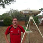 A young Gary Ballance with his own bowling machine at home in Zimbabwe. All his hard work is paying off for England! http://t.co/qvYcafHq0b