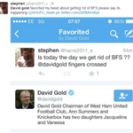 """@paddypower: David Gold may be sharpening his knife as we speak... (via @@harris2011_s) http://t.co/26G9aBDqGY"" @sdowney81"