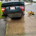 """@WCVB: Amazing photo from @louieer of car flipped over from #WCVBstorm in #Revere. http://t.co/ZYCxQ0l0Yf http://t.co/RgQQonlDpw"""