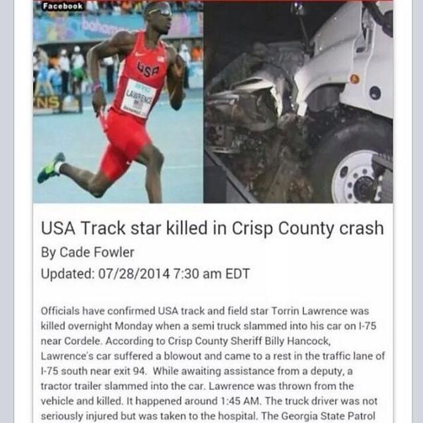 Our hearts go out to the family of @TrackTarantula . #TrackNation #USA